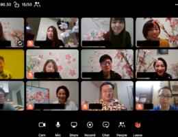 「オンラインお花見歓迎会」で、新入社員をはじめ社員同士のつながりを深める! ~全社員リモートワークの中でも、オンラインで一致団結~